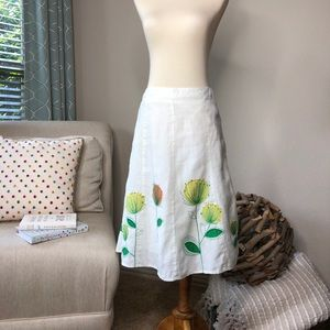 Boden Floral Embroidered Skirt